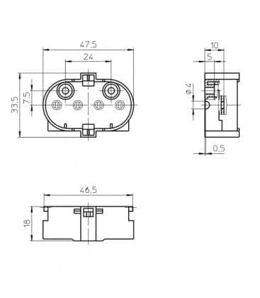 Lampholder, Base 2G11