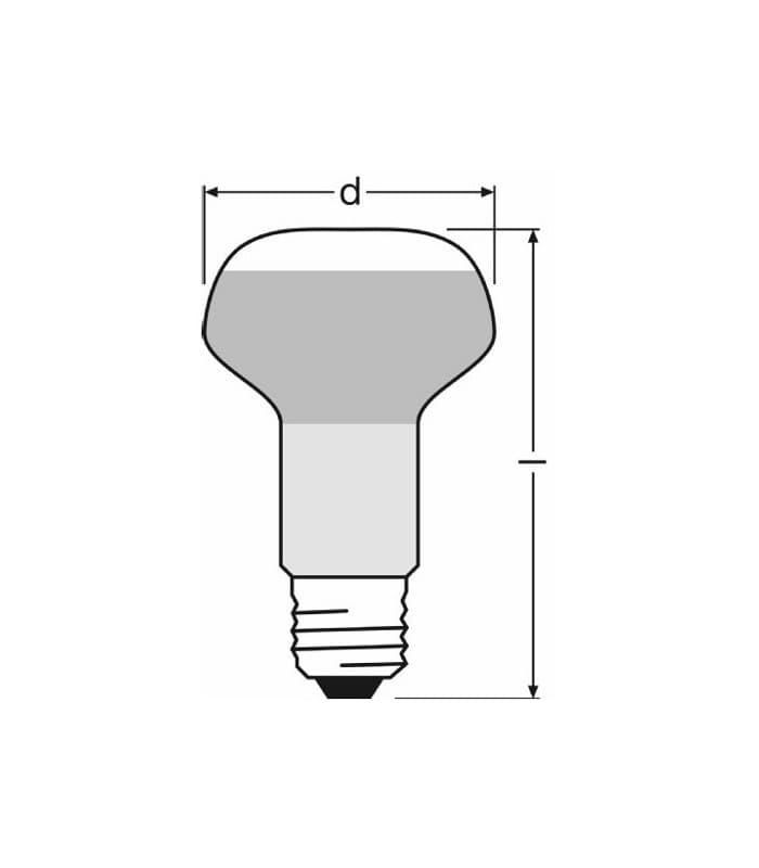 Osram Concentra R63 40w E27 Classic Reflector Light Bulbs
