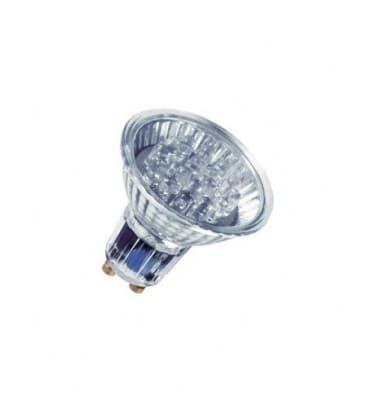 LED Decospot Par16 RD 240V 1W GU10 Rdeca