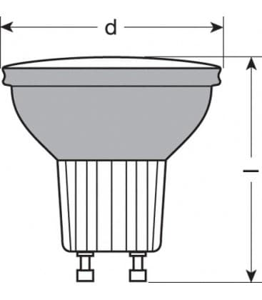 LED Decospot Par16 RD 240V 1W GU10 Rouge