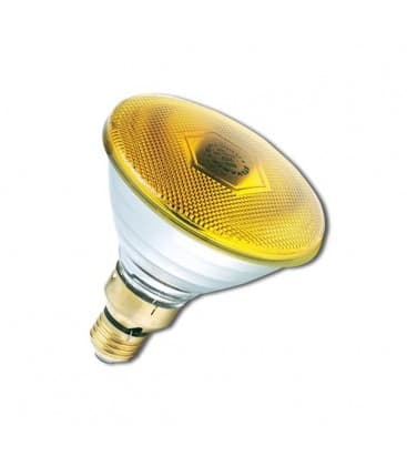 PAR38 80W 240V FL E27 Yellow