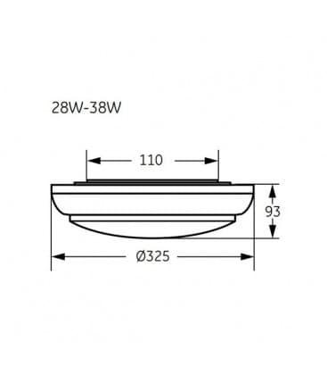 Club WH 28W-835 230V weis