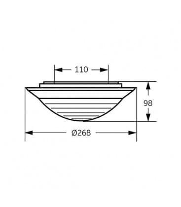 Brio Opal WH 16W-835 230V bianco