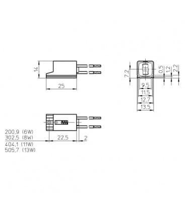 Douille W4.3x8.5d T2