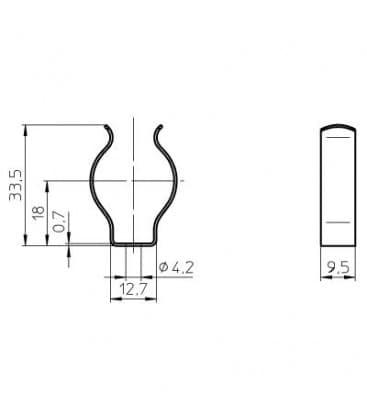 Nosilec sijalke T5 za fluo cevi