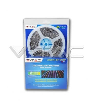 Bandes de LED 12V 5050 7,2W /m IP68   etanche blanc chaud