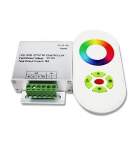 RGB LED Controller DC 12V/24V 216W/432W RF Wireless Touch-Control 20m