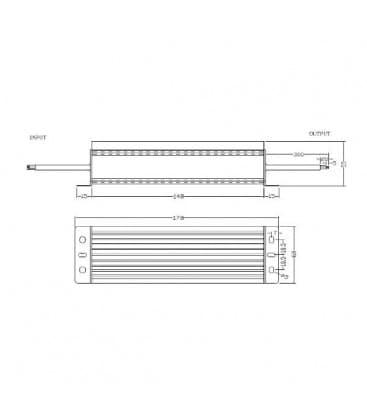 LED di alimentazione 12V 100W 110-220V impermeabile