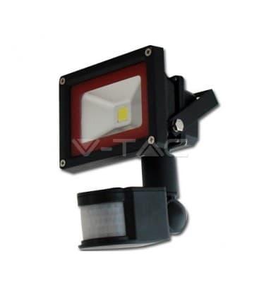 VT-4010 PIR LED reflecteur 10W (100W) IP65 W avec detecteur de mouvement
