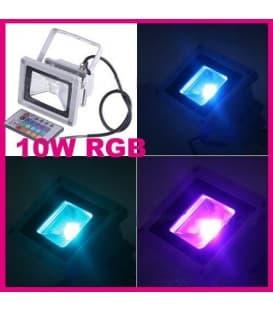LED reflecteur  10W (100W) IP65 RGB avec telecommande