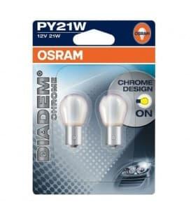 Diadem Chrome 7507DC PY21W 12V Sembra bianco, brillare giallo - Double Pack