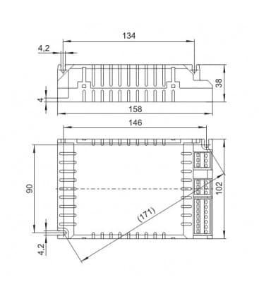 ELXd 218.803 2x18W TC-dEL/-tEL Dimmbar