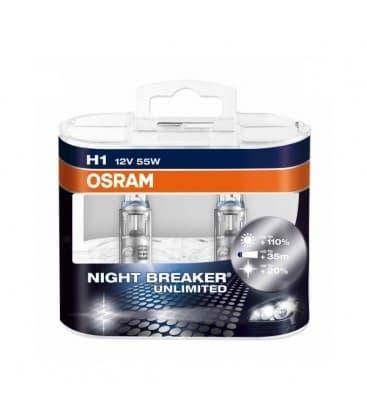 H1 12V 55W 64150 NBU Night Breaker Unlimited Paquet double 64150-NBU-DUO 4052899016286