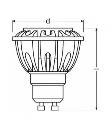 LED Parathom PRO ADV Par16 35 5.2W-927 WW 230V GU10 24D Možnost zatemnitve