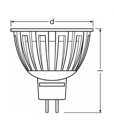 LED Parathom ADV 35 6.5W WW 827 12V MR16 24D Dimmbar