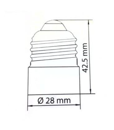 Adattatore portalampada da spina E27 a presa E14