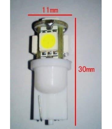 LED Retrofits  0.8W W5W 12V T10 5SMD 6000K