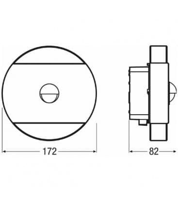 Noxlite LED WALL 12W Round Sensor WT IP44 41041