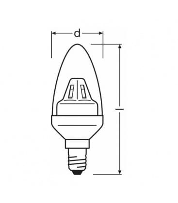 LED Star Classic B 15 2W WW 220-240V E14