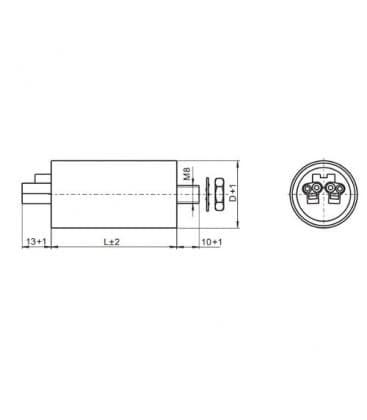 VS kondenzator 20mF 50/60Hz 250V 41001