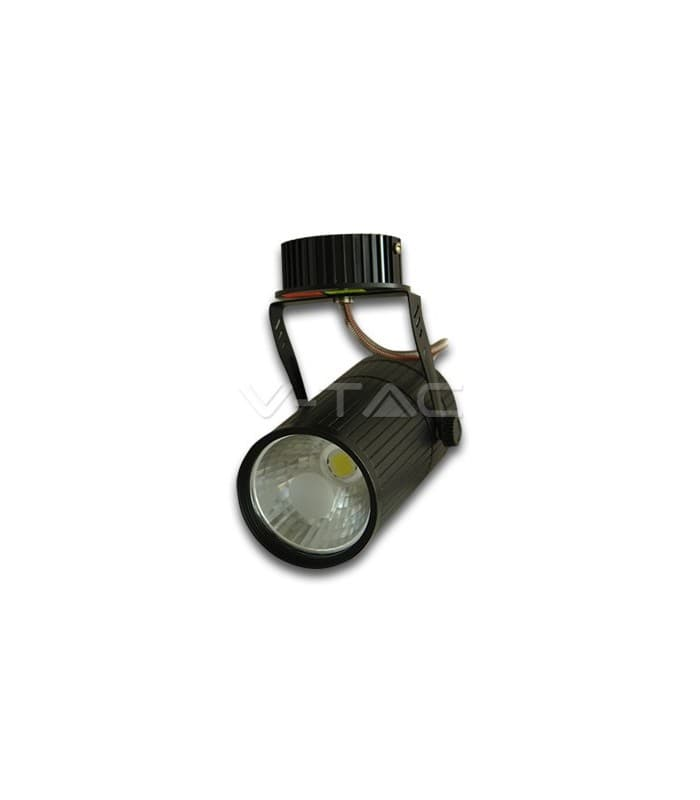 Shop Light With Reflector: V-Tac Led Reflector Ceiling Light Black Body 10W White