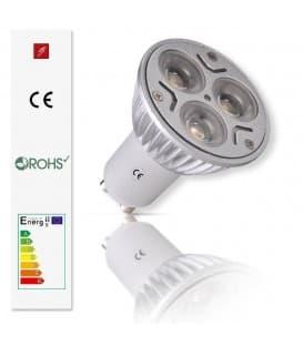 LED 3x1W CW GU10 85-240V Foco