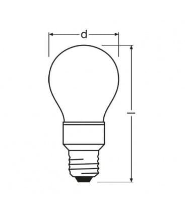 LED Star Deco Classic A RD 100-240V 1W E27 Rot