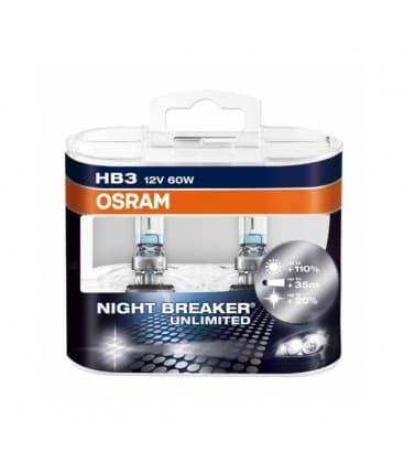 HB3 12V 60W 9005 NBU Night Breaker Unlimited Dvojno pakiranje 9005-NBU-DUO 4052899030756