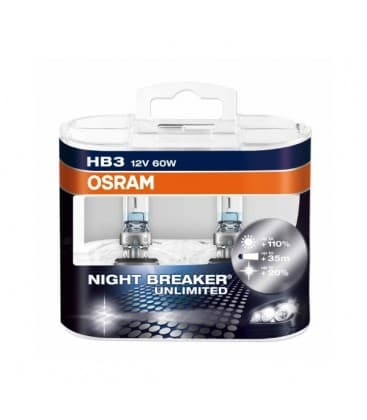 HB3 12V 60W 9005 NBU Night Breaker Unlimited - Paquet double