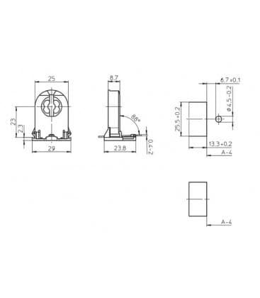 Lampenhalter Fassung G13 Durchsteck 109330