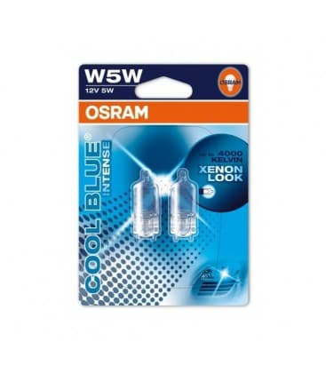 W5W 12V 5W 2825 HCBI Halogen Cool Blue Intense Dvojno pakiranje 2825-HCBI-DUO 4008321650870