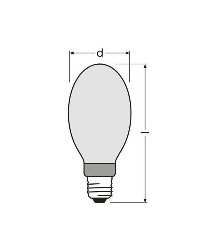 Metal Halide Lamp Choke: Osram HQI-E 400W-d Pro E40 Coated Hqi-e-400-d
