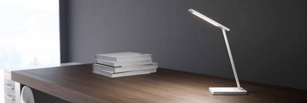 Desk luminaires, table lamps